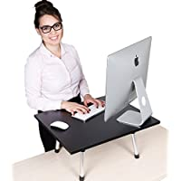 Stand Steady Original Standing Desk – Large Surface (23.5 in x 20 in) – New Taller Model with Non-skid Feet. Instantly Convert any Surface to a Standing Desk!