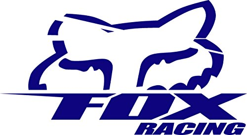 Fox Racing logo (NAVY BLUE) (set of 2) - silhouette stencil artwork by ANGDEST - Waterproof Vinyl Decal Stickers for Laptop Phone Helmet Car Window Bumper Mug Cup Door Wall Home Decoration (Tag Fox Mug)