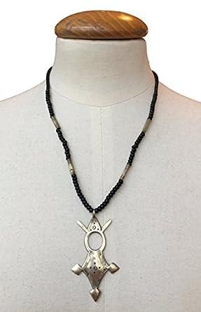 New silver tuareg compass sahara desert necklace charm pendant from new silver tuareg compass sahara desert necklace charm pendant from morocco gift mozeypictures Images