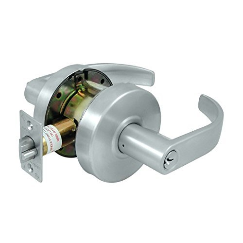 Schlage commercial CL604EVC-26D Commercial Store Room Standard GR2 Curved Door Lock with Cylinder - Schlage Lock Removable Core