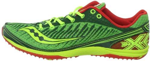 SAUCONY Kilkenny XC 5 Chaussures de Course à crampons Unisexes, Vert, 44.5