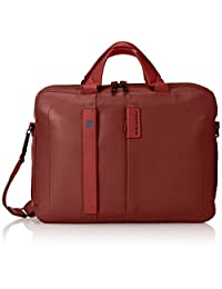Piquadro Two-Handled Computer Bag with iPad and iPad Mini Compartment, Red/Red, One Size