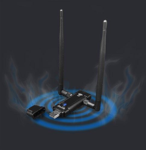 Alfa Long-Range Dual-Band AC1200 Wireless USB 3.0 Wi-Fi Adapter w/2x 5dBi External Antennas - 2.4GHz 300Mbps / 5Ghz 867Mbps - 802.11ac & A, B, G, N by Alfa (Image #1)