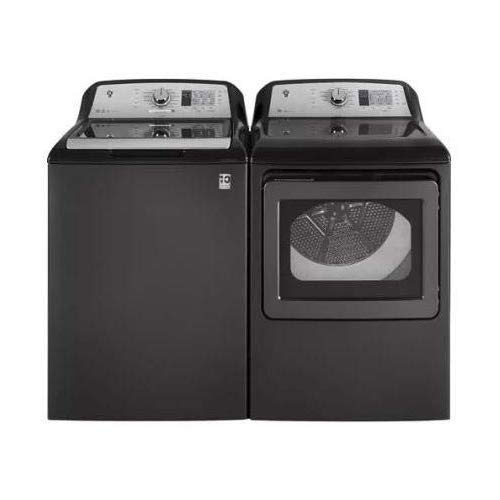 "GE Top Load Speed Wash GTW680BPLDG 27″"" Washer with Front Load GTD65EBPLDG 27″"" Electric Dryer Laundry Pair in Gray"