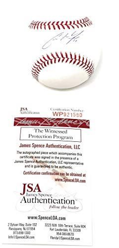 Christian Yelich Milwaukee Brewers Signed Autograph Official MLB Baseball JSA Witnessed Certified from Mister Mancave