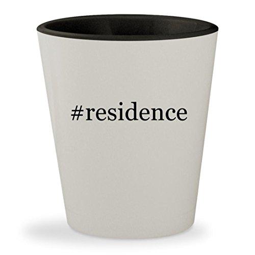 Price comparison product image #residence - Hashtag White Outer & Black Inner Ceramic 1.5oz Shot Glass