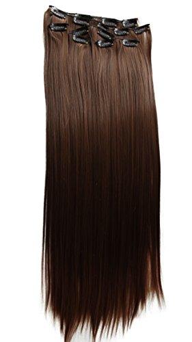 PRETTYSHOP XXL 60cm 8 teiliges SET Clip In Extensions Haarverlängerung Haarteil hitzebeständig wie Echthaar div. Farben CES12