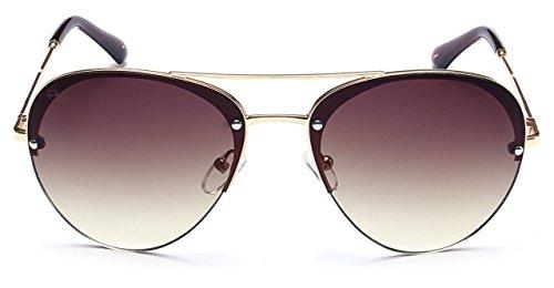 """PRIVÉ REVAUX """"The Warrior"""" Handcrafted Designer Aviator Sunglasses For Men & Women (Gold) (Women Designer Sunglasses)"""
