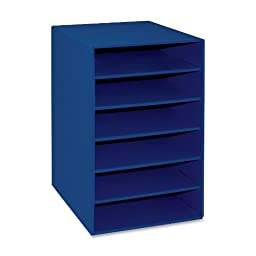 Pacon Classroom Keepers 6-Shelf Organizer, Blue (001312)