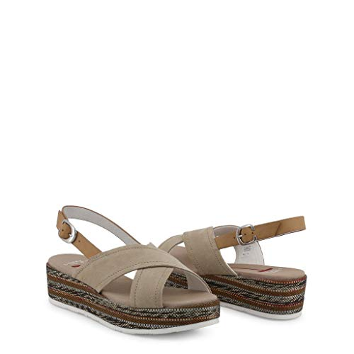 Tc 50 Chaussures Daim Polo En Capri Femme Compensée Beige Sandale Us p7Oqzwpv