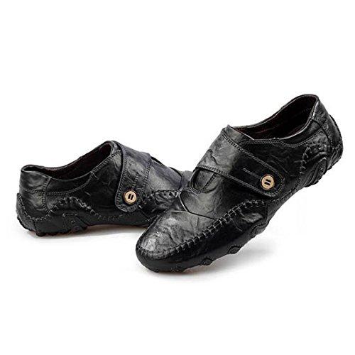 Negro de Hombre Zapatos Ocasiones Jiyaru Hebilla o formales Informales Para zf6wzq