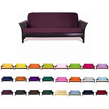 magshion futon cover slipcover  burgundy full  54x75 in    amazon    burgundy premium futon cover   full size  home  u0026 kitchen  rh   amazon