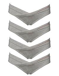 Cotton Whisper 4 Pack Women's Under the Bump Maternity Bikini
