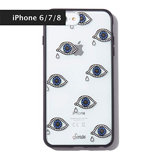Sonix, Eye Phone, Tear Drop Cell Phone Case [Military Drop Test Certified] Protective Clear Case for Apple iPhone 6, iPhone 7, iPhone 8