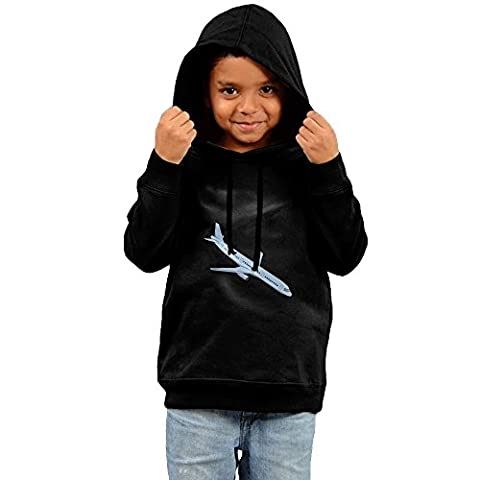 Maia Cartoon Airplane Thanksgiving Day Gift Kid's Cotton Pollover Hoodie Sweatshirt (Oklahoma Championship Ring)