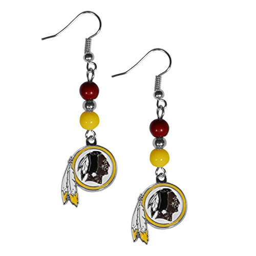 NFL Washington Redskins Fan Bead Dangle Earrings ()