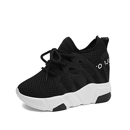 scarpe 36 e corrispondono libero periodo primavera le le GTVERNH tempo respirabile inferiore tutti scarpe maggiore sportive spesso black scarpe muffin femmina autunno wqI5U