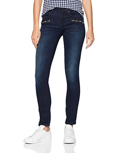 Bleu Mit Blue Denim Alexa Slimfit Femme rinsed Tom 1100 Tailor Zipdetails Jeans Slim Rq1xwx84Ia