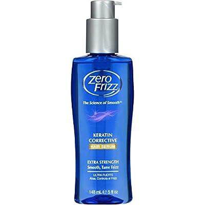 Zero Frizz Corrective Hair Serum 5 Ounce Bottle W/ Keratin (Pack of 3)