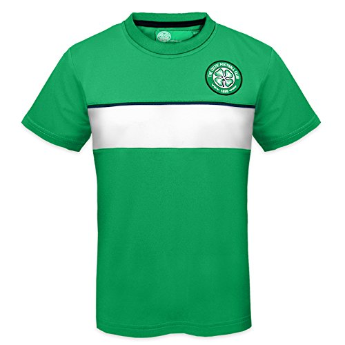 - Celtic FC Official Gift Boys Poly Training Kit T-Shirt Green 10-11 Years LB