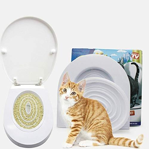 FidgetKute Cat Potty Pee Reusable Training Toilet Litter Seat Lavatory Cleaning Box Trays