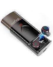 HolyHigh Bluetooth Kopfhörer Kabellos in Ear Sport Joggen Ohrhörer Bluetooth 5.0 mit 6000mAh Batterie 180 Stunden Spielzeit Wasserdicht Mikrofon für iOS Android Samsung Huawei HTC