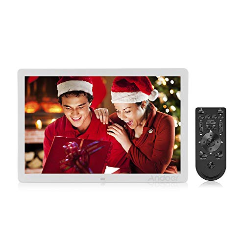 igital Photo Picture Frame High Resolution 1440x900 Scroll Caption 1080P Advertising Machine MP3 MP4 with Remote Control ()