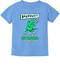 Big Brother In Dinosaur Trex Big Brother Gift Toddler/Infant Kids T-Shirt