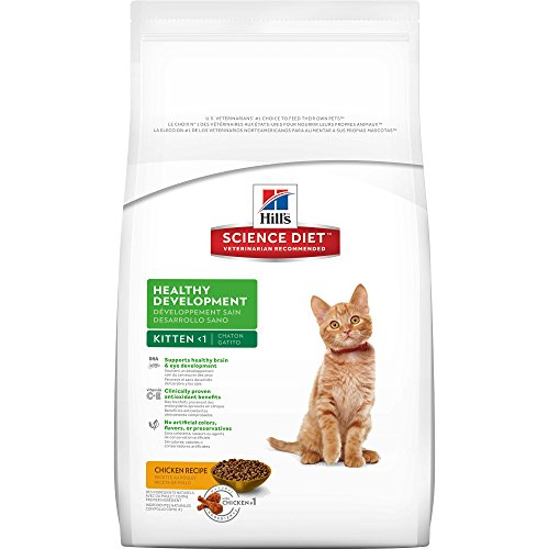Hill's Science Diet Kitten Healthy Development Chicken Recipe Dry Cat Food, 15.5 lb bag (Hills Science Diet Cat Food A D compare prices)