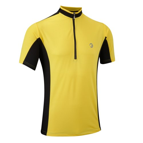 Tenn Mens Coolflo S/S Cycling Jersey - Yellow/Black - Lrg