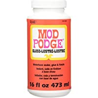 Mod Podge Waterbase Sealer Glue and Finish 16-Ounce Gloss Finish