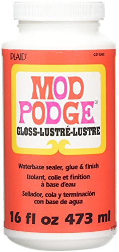 Mod Podge Original 16-Ounce Glue, Gloss Finish Party Supplies, 16 Oz, 12 Pieces