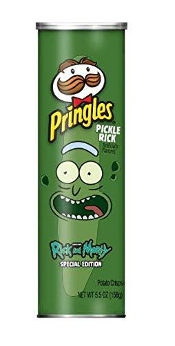 Pickle Rick Pringles Rick And Morty Edición Especial Papas Fritas 155 G 5 5 Oz Grocery Gourmet Food