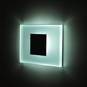 12V - 24V SUN-LED focos lámpara de pared LED para escaleras, escalera, corridor, luz blanca marco