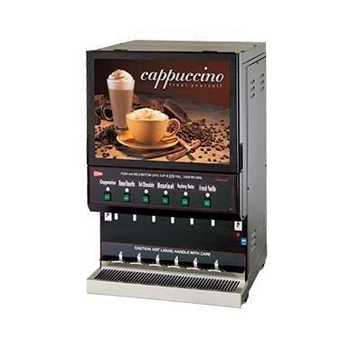 Grindmaster Cecilware Cappuccino Dispenser, Electric High Volume (1) 10 Lbs Capacity Hopper & (5) 5 Lbs Capacity Hoppers