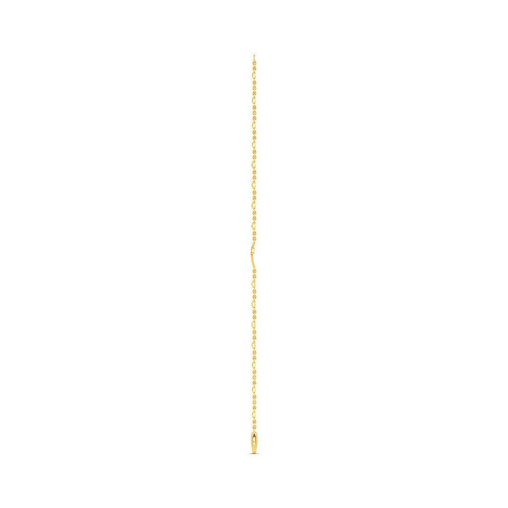 0.221 cttw Round-Cut-Diamond 7.75 inches IJ| SI identification-bracelets Size 18K Yellow Gold