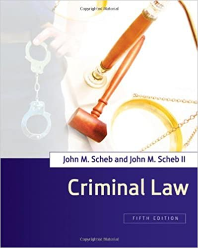 Criminal Law by John M. Scheb (2008-03-20)