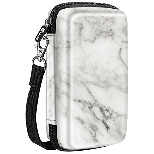 Fintie Carry Case for Kodak Mini/Mini 2 HD Photo Printer/Mini Shot 2 in 1 Camera & Printer - Hard EVA Shockproof Storage Portable Travel Bag with Inner Pocket/Removable Strap, Marble