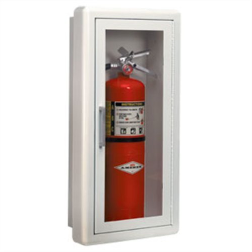 Fire Rated Glass - JL Industries 1017F10 Full Glass 3 inch Trim Extinguisher Cabinet by J L Industries