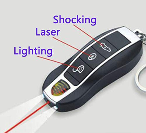 (Cooplay 1pc Electric Shocking Car Key Keyless Keychain Prank Toy Joke Funny Gadget Shock Tricky Gag Veigar for April Fools Halloween Party)