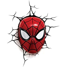 3DLightFX Marvel Spiderman Mask 3D Deco Light