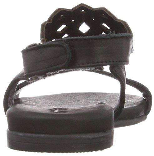 Tamaris 1-1-28126-20 Damen Sandale, Sandalette, Sommerschuhe Für Die Modebewusste Frau Schwarz (Blk/Blue Metal)