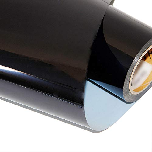 Heat Transfer Vinyl Roll 12 Inches x 5 Feet HTV Vinyl for T-Shirts (White) (black)