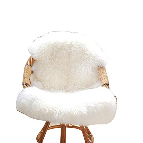 URIJK Faux Fur Sheepskin Rug Faux Fleece Chair Cover Seat Pad Shaggy Area Rugs With Super Fluffy For Living Room Bedroom Sofa Floor, 23.6x35.4 in by URIJK (Image #2)