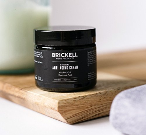 41AdftsVdbL - Brickell Men's Revitalizing Anti-Aging Cream For Men, Natural and Organic Anti Wrinkle Night Face Cream To Reduce Fine Lines and Wrinkles, 2 Ounce, Scented