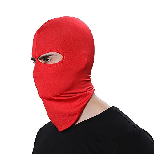 - GANWAY Wind Cap Motorcycle Ski Masks Balaclavas Outdoor Sports Cycling Hat (Red)