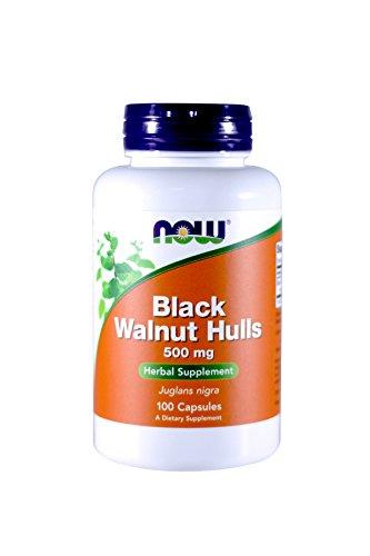 Now Foods - Black Walnut Hulls, 500 mg, 100 Capsules (100 Capsules Mg 500 Hull)
