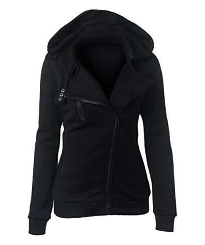 Zip Front Collared Sweatshirt Jacket - 5