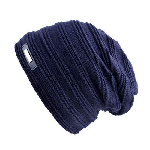 Invierno de Hombres Beanies de más Color Punto Los Terciopelo Gorra Qianliuk de Azul Beanie Sombreros Mujeres sólido fq6Rtww