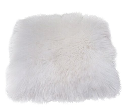Sheepskin Seat Cushion - IMQOQ Genuine Sheepskin Chair Seat Pad Car Seat Cover Cushion with Straps 18
